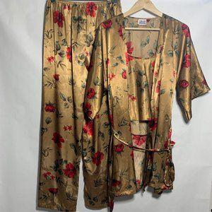 Secret Treasures  Satin  Vintage Pajama Set L